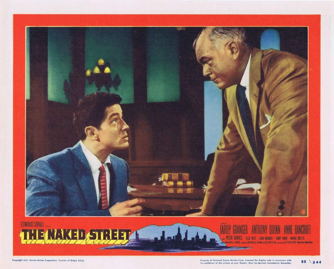 THE NAKED STREET Lobby Card 8 Farley Granger Anthony Quinn Anne Bancroft