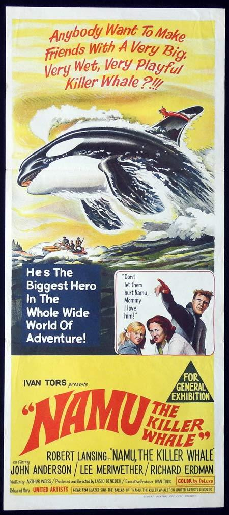 NAMU THE KILLER WHALE Original Daybill Movie Poster Robert Lansing