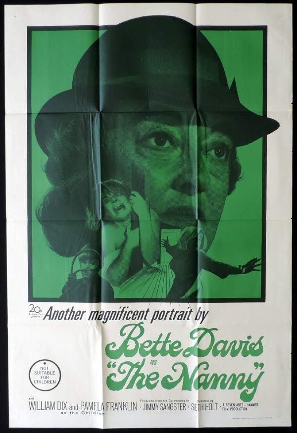 THE NANNY One Sheet Movie Poster Hammer Horror Bette Davis