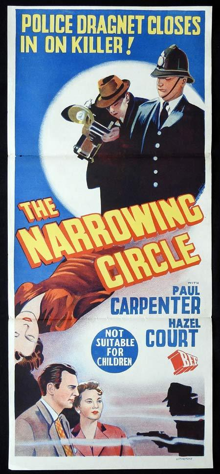 THE NARROWING CIRCLE Daybill Movie poster Hazel Court