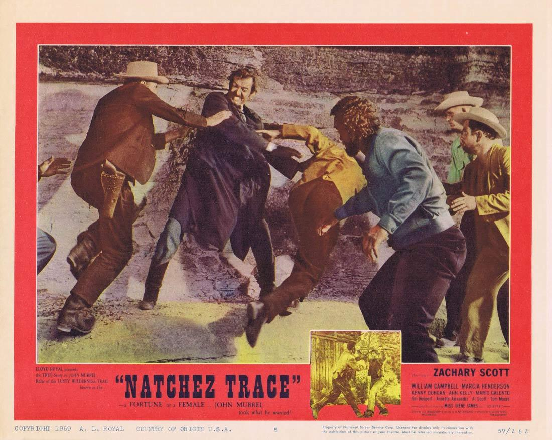 NATCHEZ TRACE Original Lobby Card Zachary Scott Western