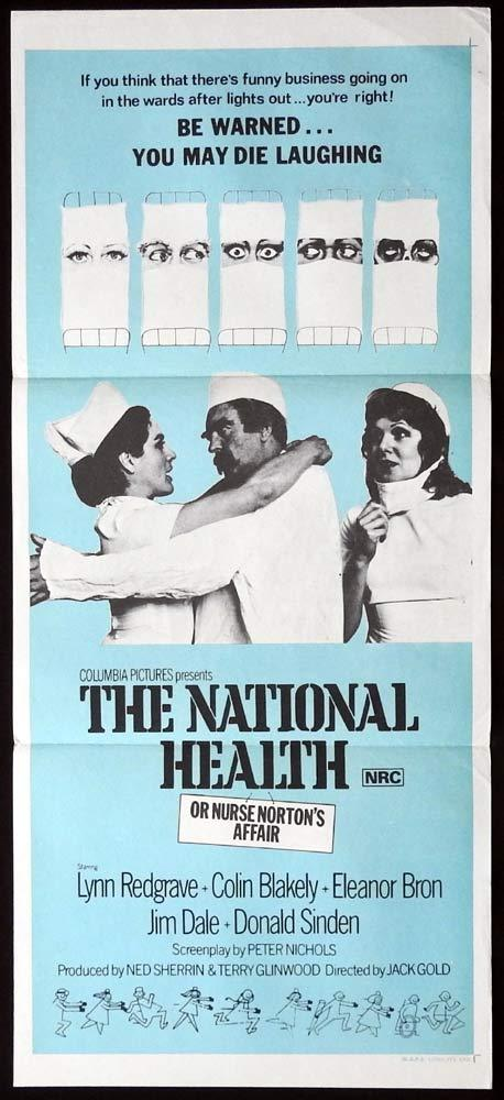 THE NATIONAL HEALTH Original Daybill Movie Poster Lynn Redgrave