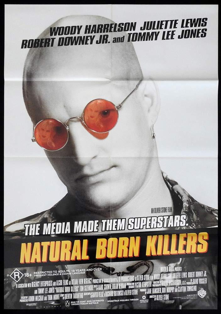 NATURAL BORN KILLERS One sheet Movie poster 1994 Woody Harrelson