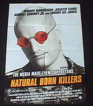 NATURAL BORN KILLERS '94-Woody Harrelson One sheet