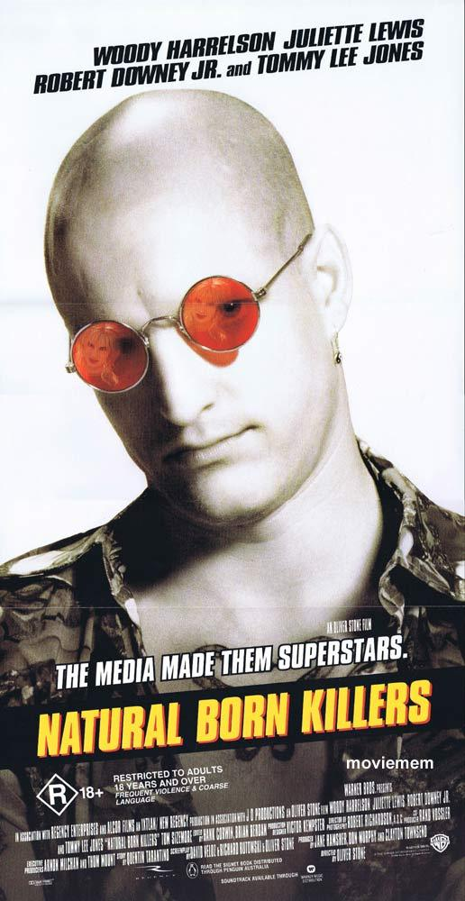 NATURAL BORN KILLERS Daybill Movie poster 1994 Woody Harrelson