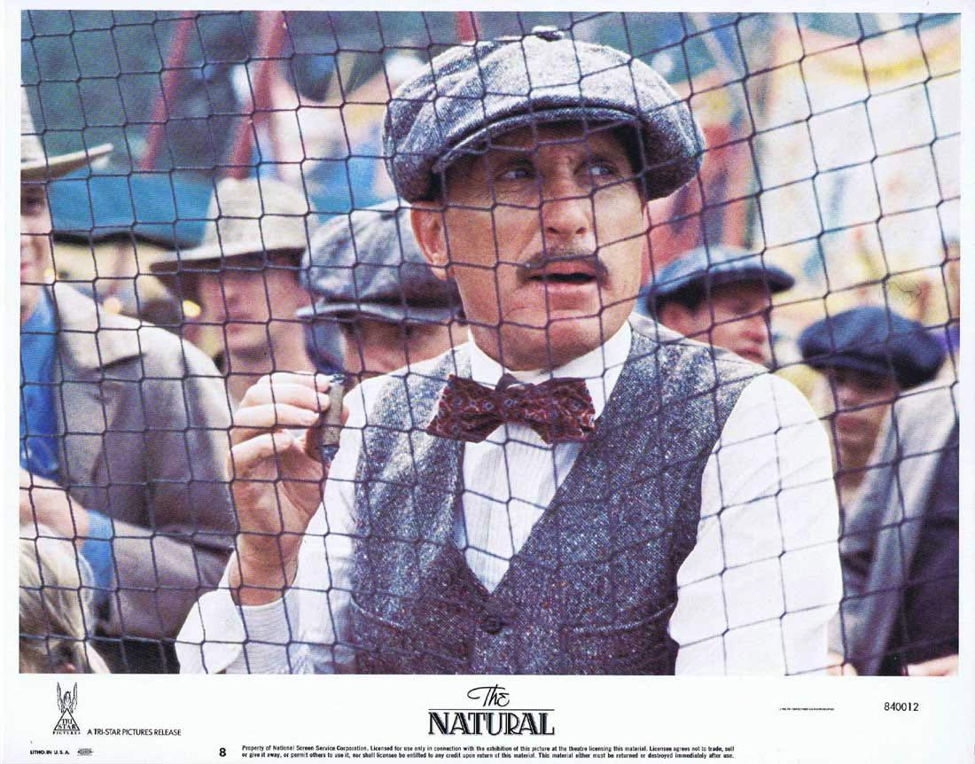 THE NATURAL Lobby Card 8 Robert Redford Glenn Close Robert Duvall.Baseball