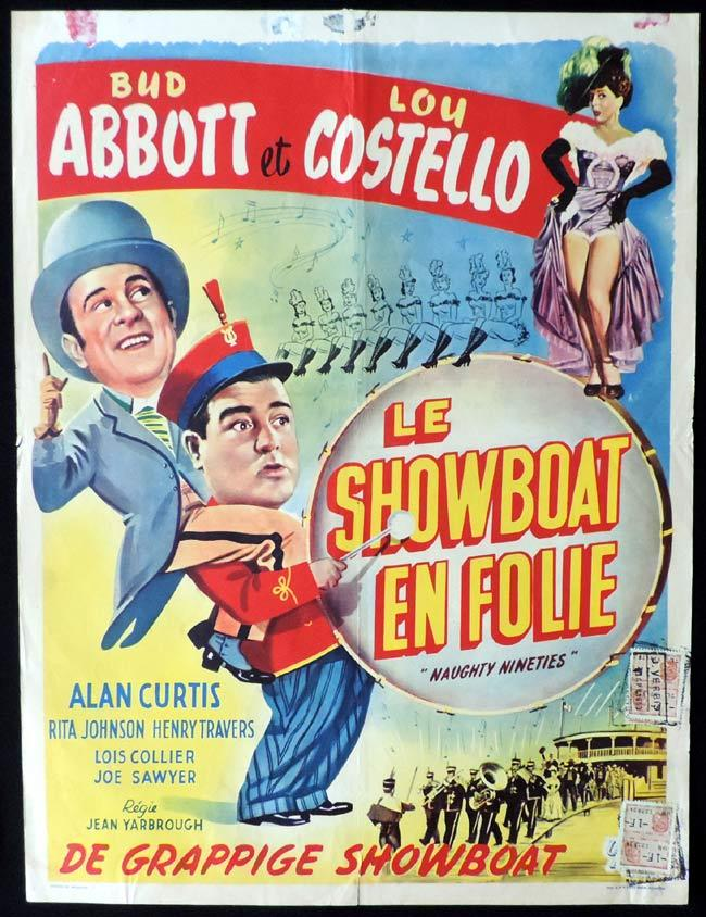 THE NAUGHTY NINETIES Original Belgian Movie poster Abbott and Costello
