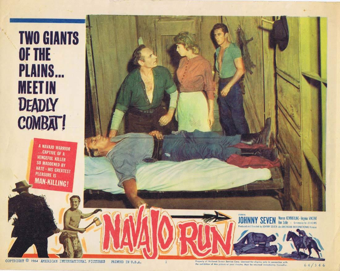 NAVAJO RUN Lobby Card 1 Johnny Seven Western