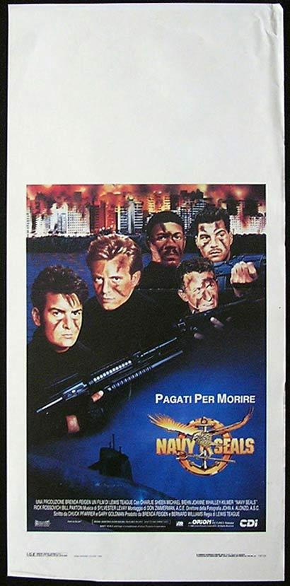 NAVY SEALS Italian Locandina Movie Poster Charlie Sheen