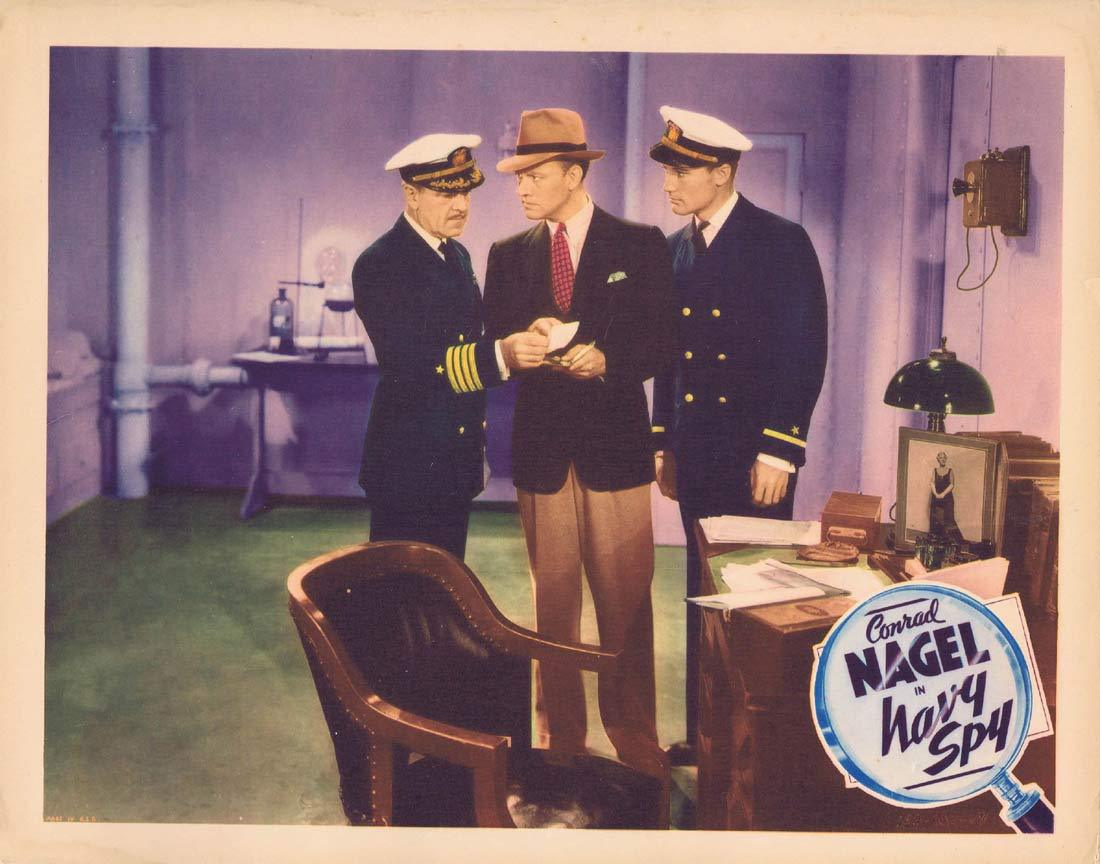 NAVY SPY Original Lobby Card 3 Conrad Nagel Eleanor Hunt Judith Allen 1937
