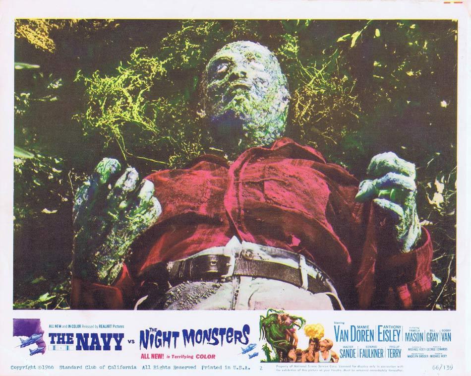 THE NAVY VS THE NIGHT MONSTERS Lobby Card 2 Mamie Van Doren Sci Fi