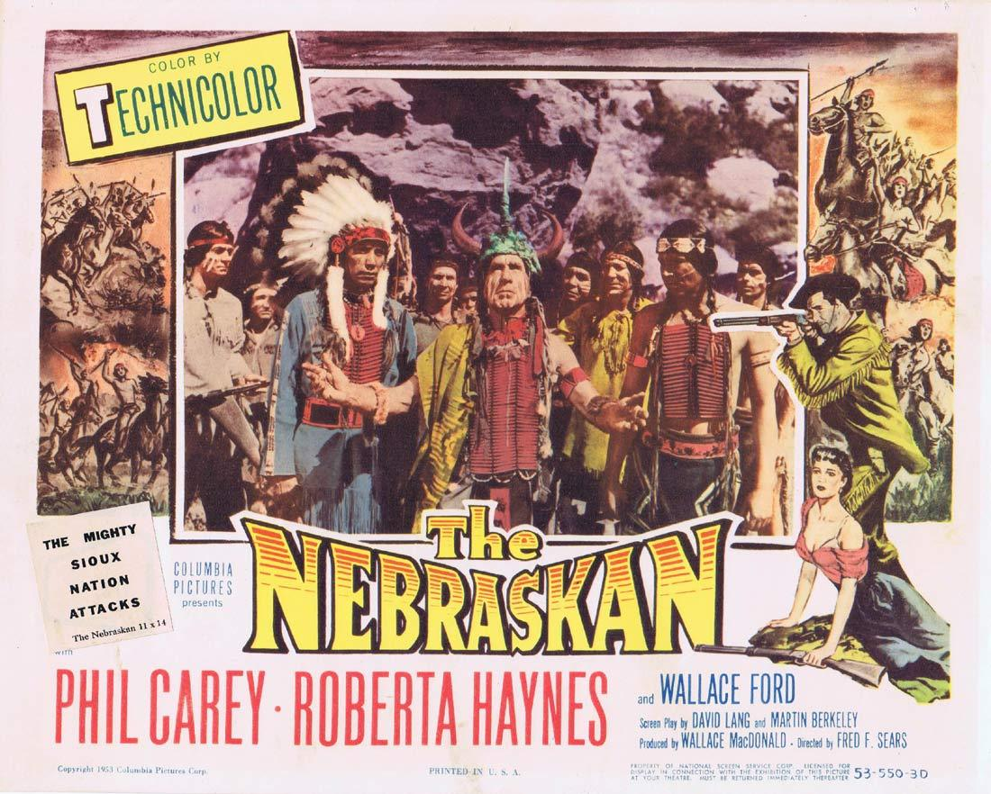 THE NEBRASKAN Original Title Lobby Card Phil Carey Roberta Haynes