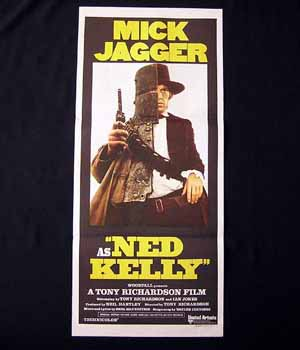 NED KELLY 1970 Mick Jagger ORIGINAL daybill poster