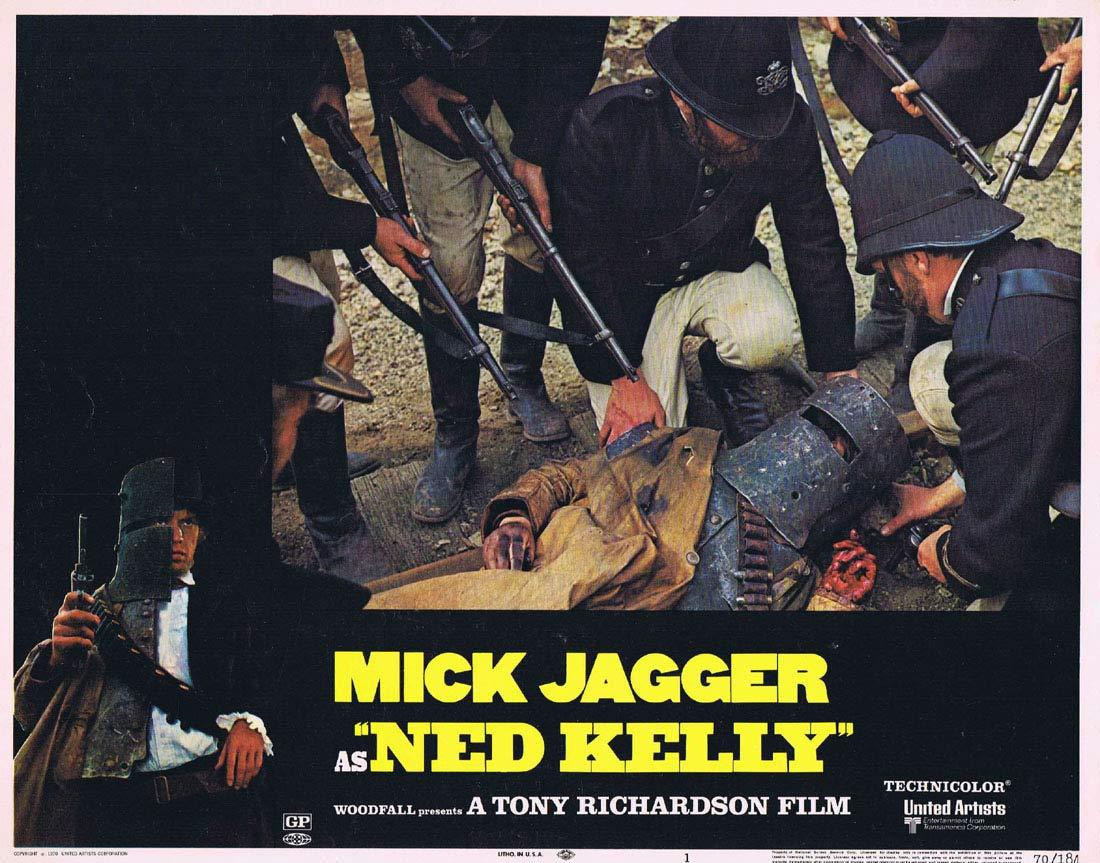 NED KELLY 1970 Mick Jagger Vintage US Lobby Card 1