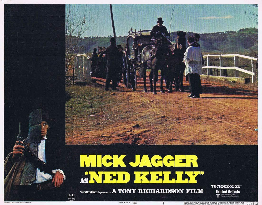 NED KELLY 1970 Mick Jagger Vintage US Lobby Card 2