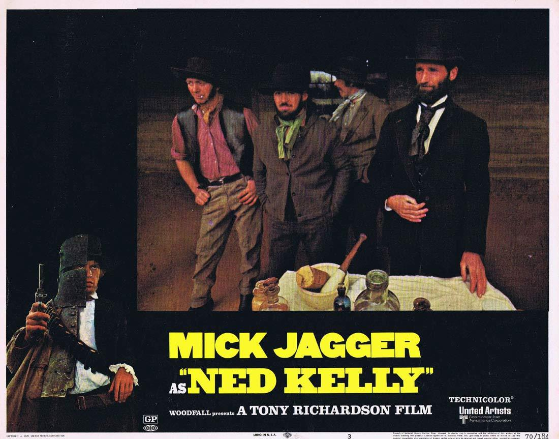 NED KELLY 1970 Mick Jagger Vintage US Lobby Card 3