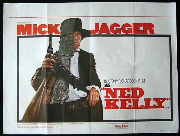 NED KELLY aka THE KELLY BROTHERS 1970 Mick Jagger ORIGINAL British Quad poster
