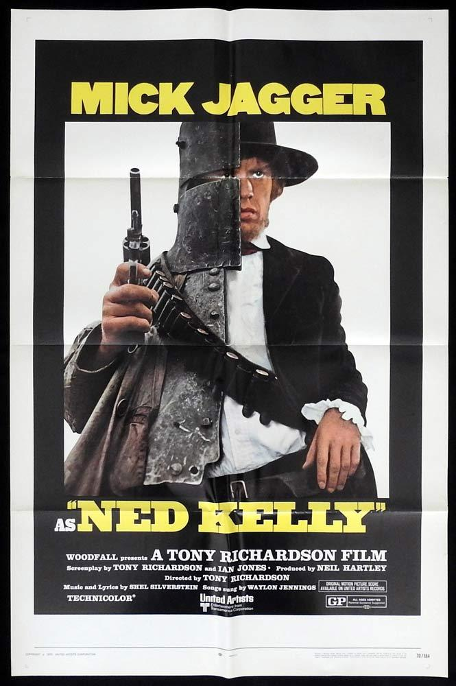 NED KELLY Original One sheet Movie poster Mick Jagger Bushranger