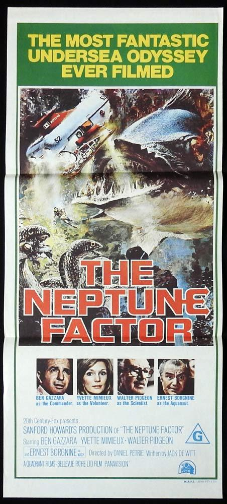 THE NEPTUNE FACTOR Original Daybill Movie poster Ben Gazzara Yvette Mimieux