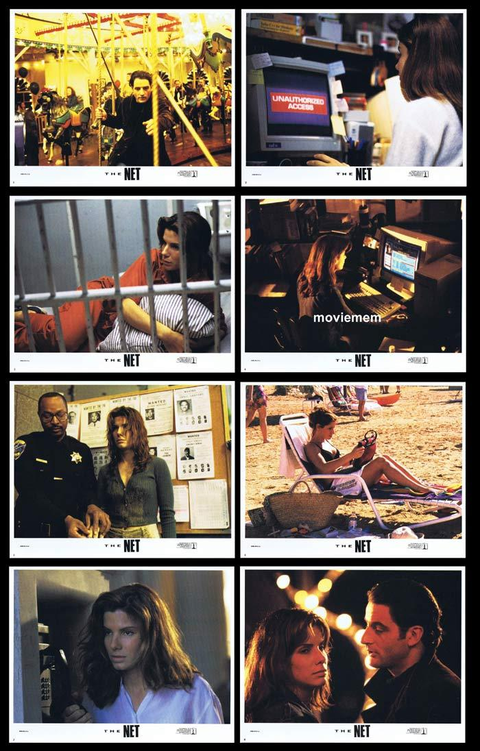 THE NET Original Lobby Card Set Sandra Bullock