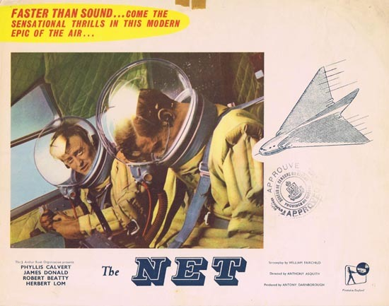 THE NET 1953 Phyllis Calvert Lobby Card 1