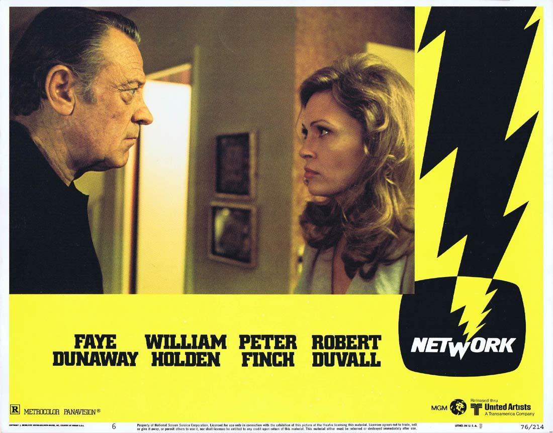 NETWORK Lobby card 6 1975 Peter Finch Faye Dunaway
