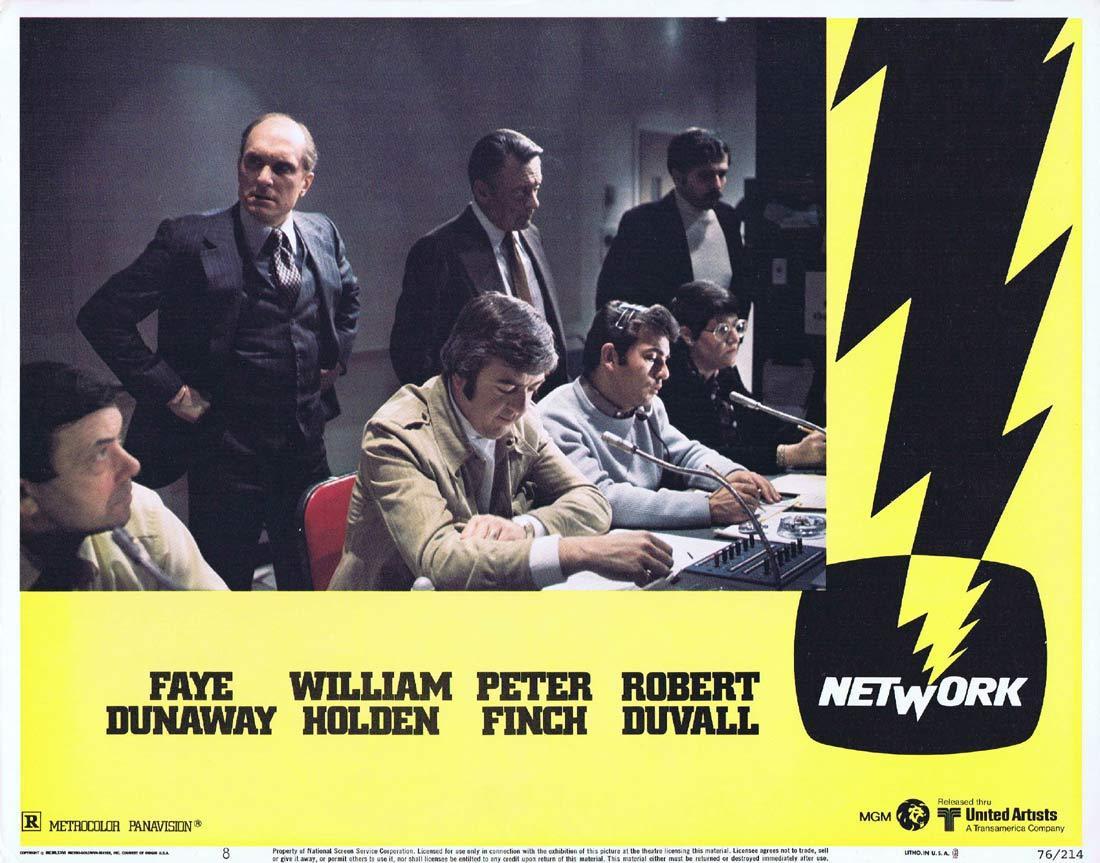 NETWORK Lobby card 8 1975 Peter Finch Faye Dunaway