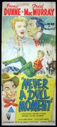 NEVER A DULL MOMENT Original Daybill Movie Poster Irene Dunne RKO Fred MacMurray