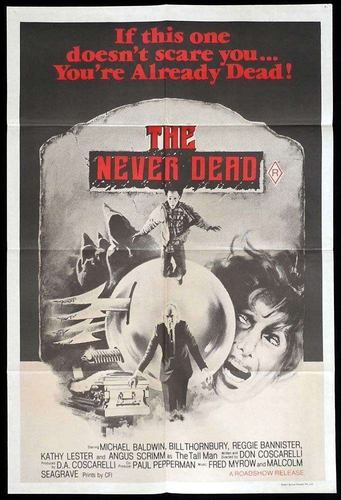 THE NEVER DEAD aka PHANTASM Original One sheet Movie Poster Don Coscarelli Horror
