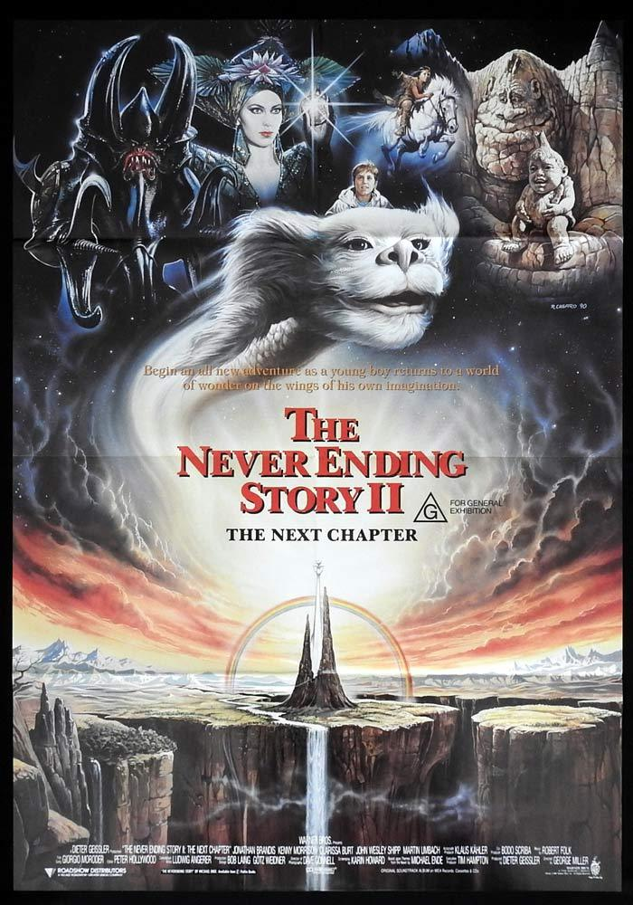 NEVER ENDING STORY II One sheet daybill Movie poster George Miller