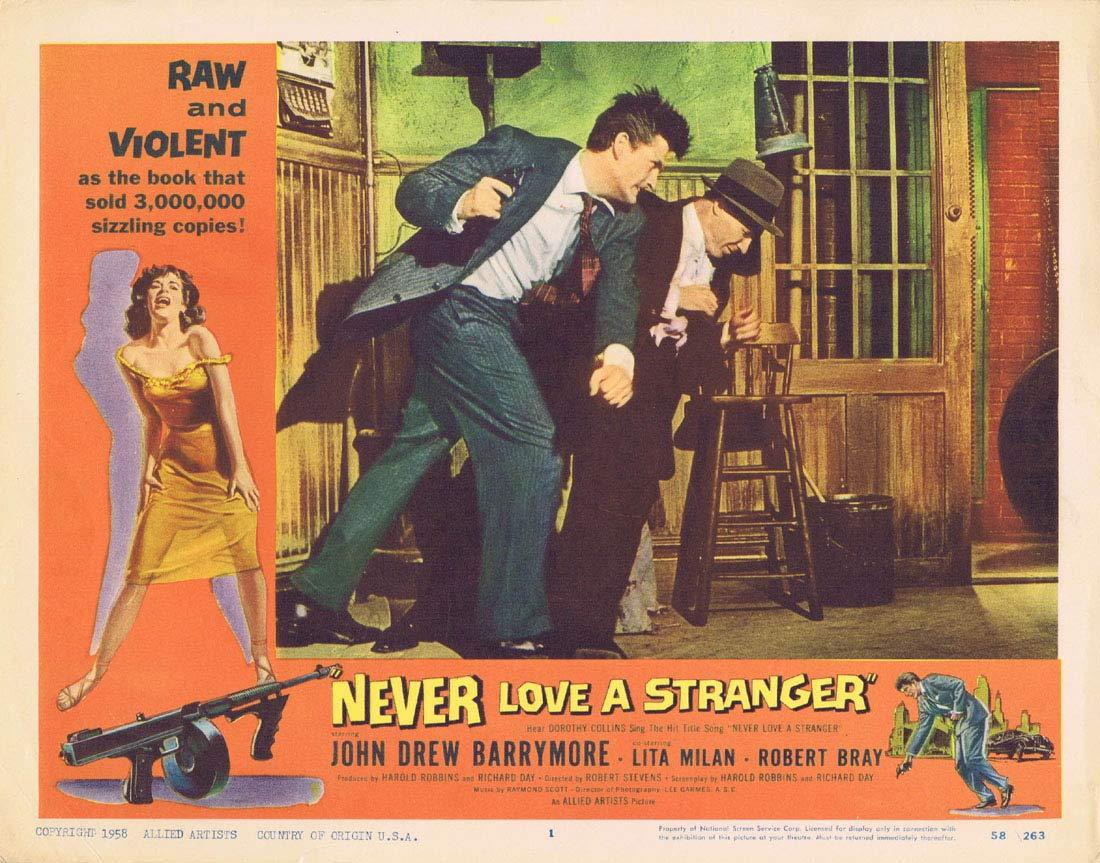NEVER LOVE A STRANGER Original Lobby Card 1 John Drew Barrymore