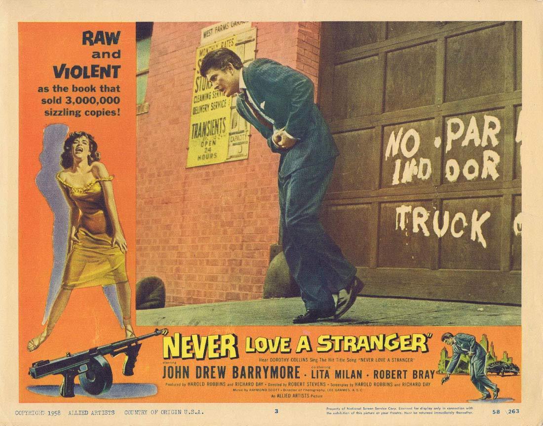 NEVER LOVE A STRANGER Original Lobby Card 3 John Drew Barrymore
