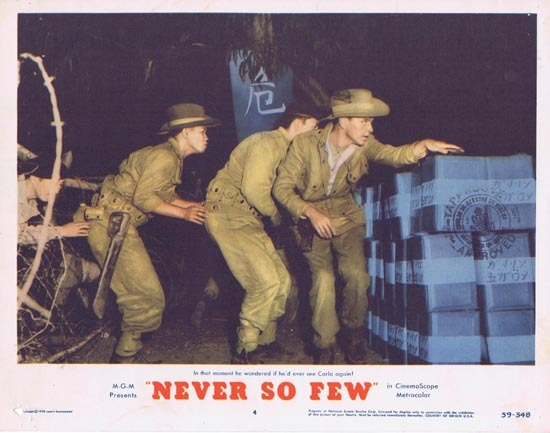 NEVER SO FEW 1959 Frank Sinatra Lobby Card 4