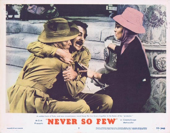 NEVER SO FEW 1959 Frank Sinatra Lobby Card 7