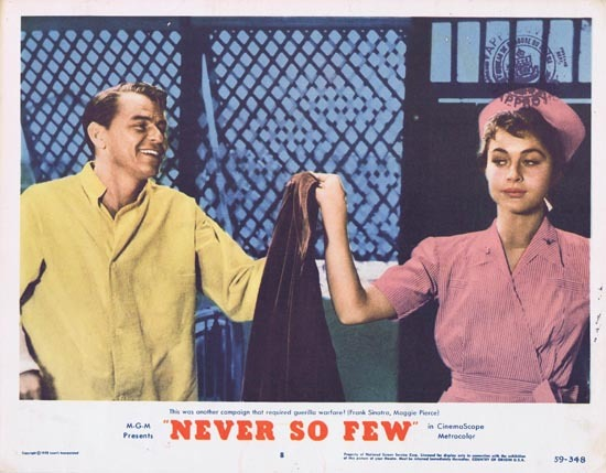 NEVER SO FEW 1959 Frank Sinatra Lobby Card 8