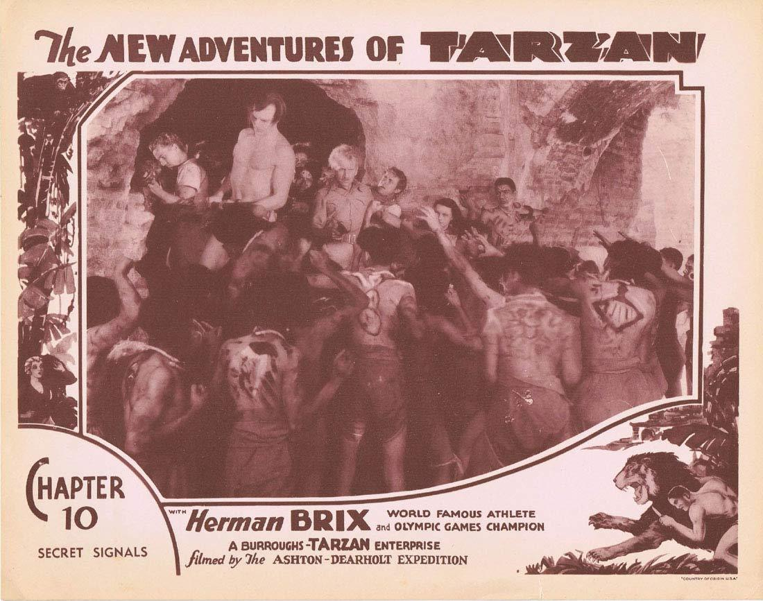 NEW ADVENTURES OF TARZAN 1935 Chapter 10 Lobby Card 4 Herman Brix Vintage Serial