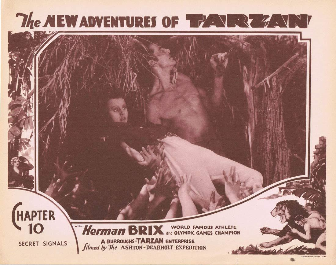NEW ADVENTURES OF TARZAN 1935 Chapter 10 Lobby Card 6 Herman Brix Vintage Serial