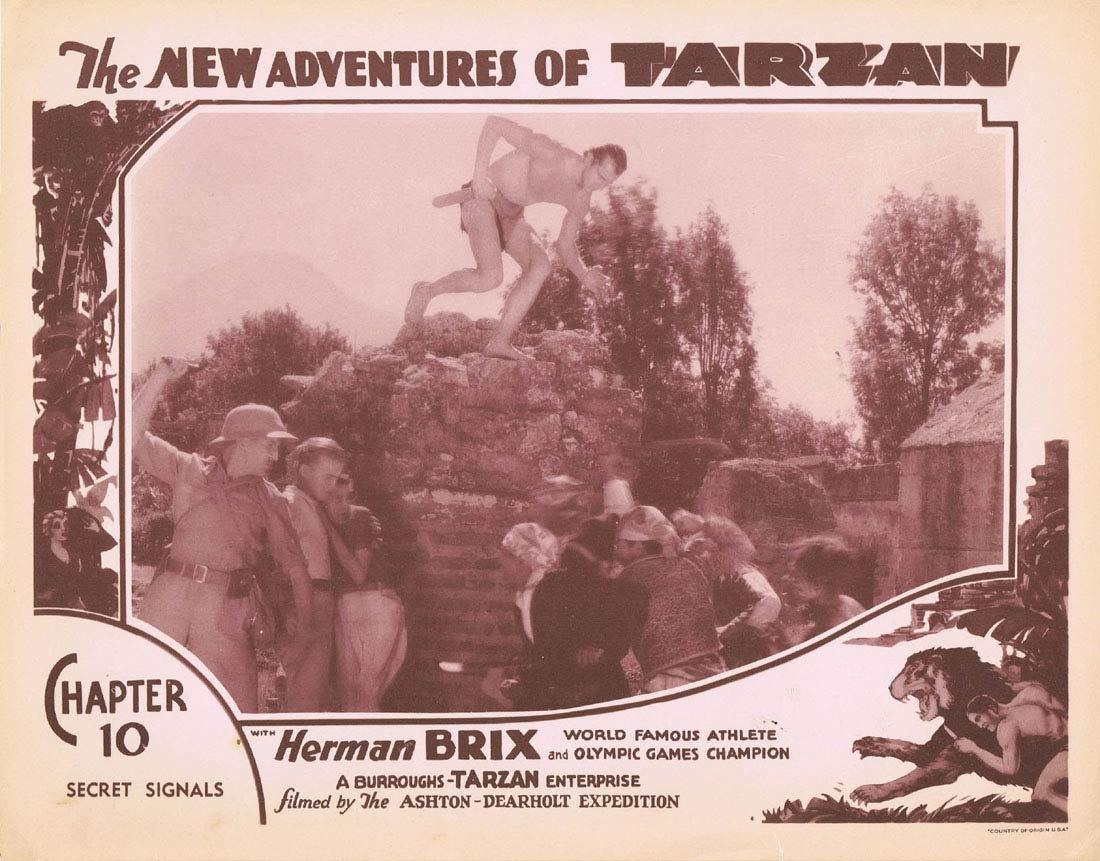 THE NEW ADVENTURES OF TARZAN Chapter 10 Lobby Card 8 Herman Brix Vintage Serial 1935