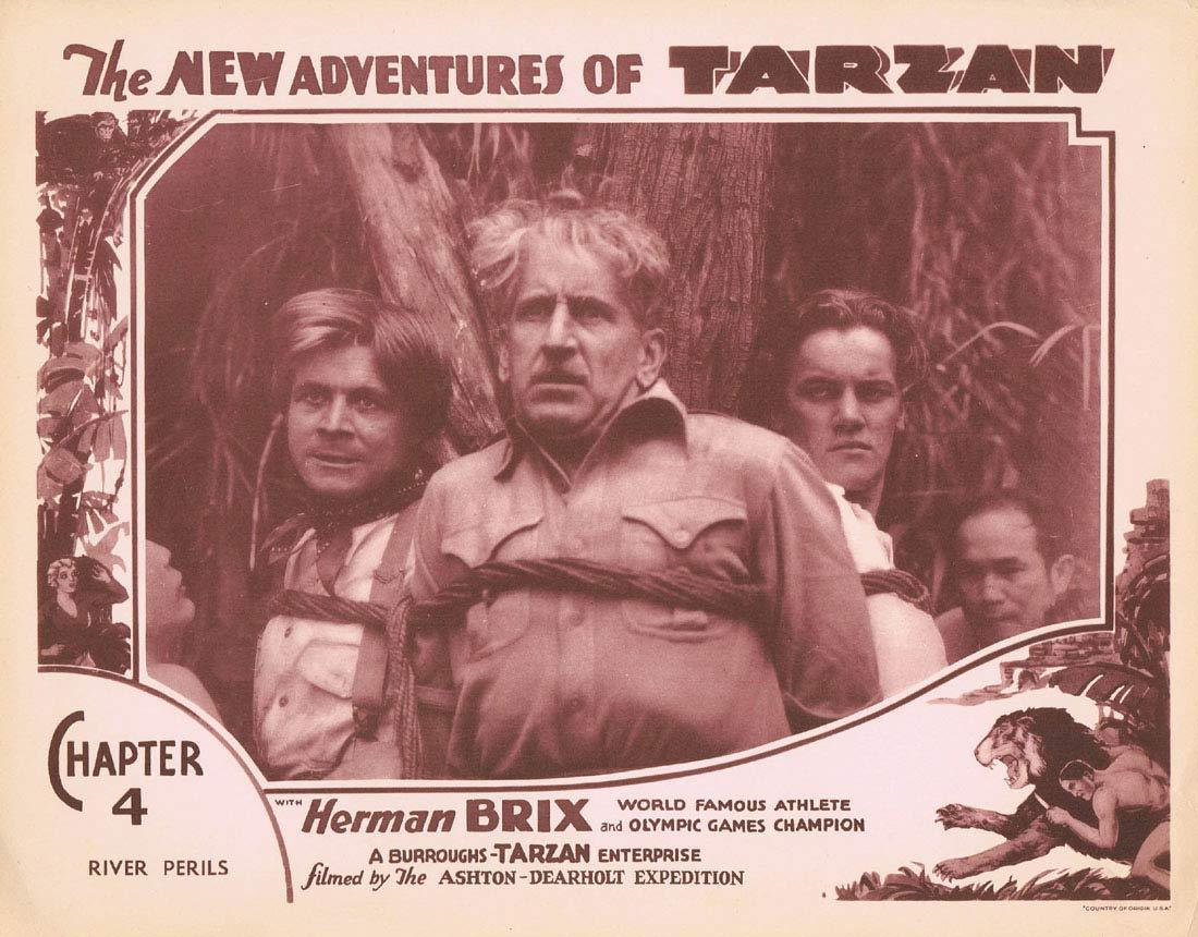 THE NEW ADVENTURES OF TARZAN Chapter 4 Lobby Card 3 Herman Brix Vintage Serial 1935