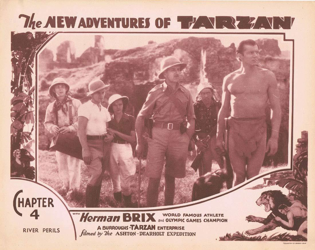 THE NEW ADVENTURES OF TARZAN Chapter 4 Lobby Card 7 Herman Brix Vintage Serial 1935