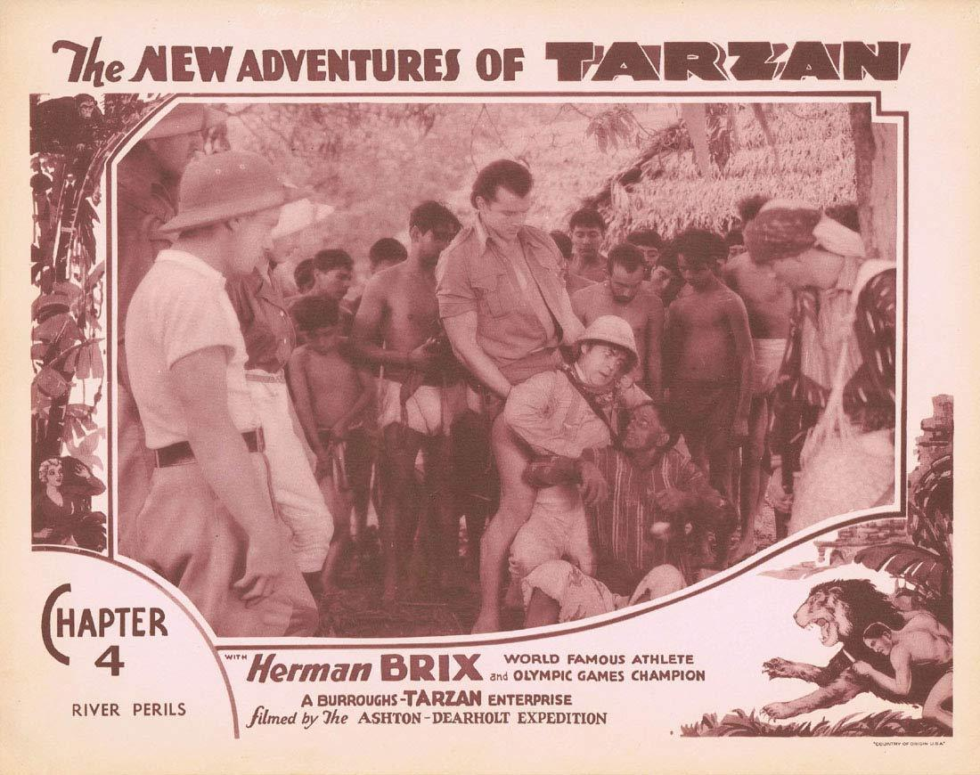 THE NEW ADVENTURES OF TARZAN Chapter 4 Lobby Card 8 Herman Brix Vintage Serial 1935
