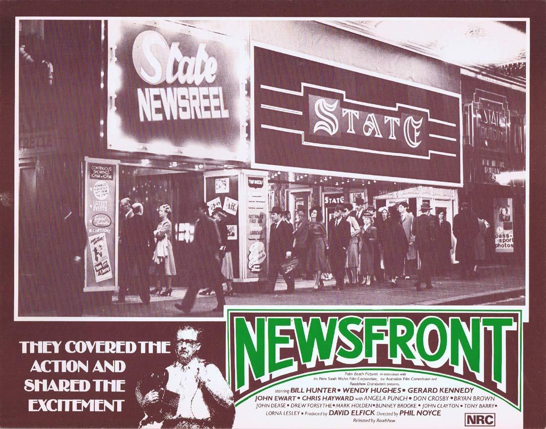 NEWSFRONT Original Lobby Card 4 Bill Hunter Wendy Hughes