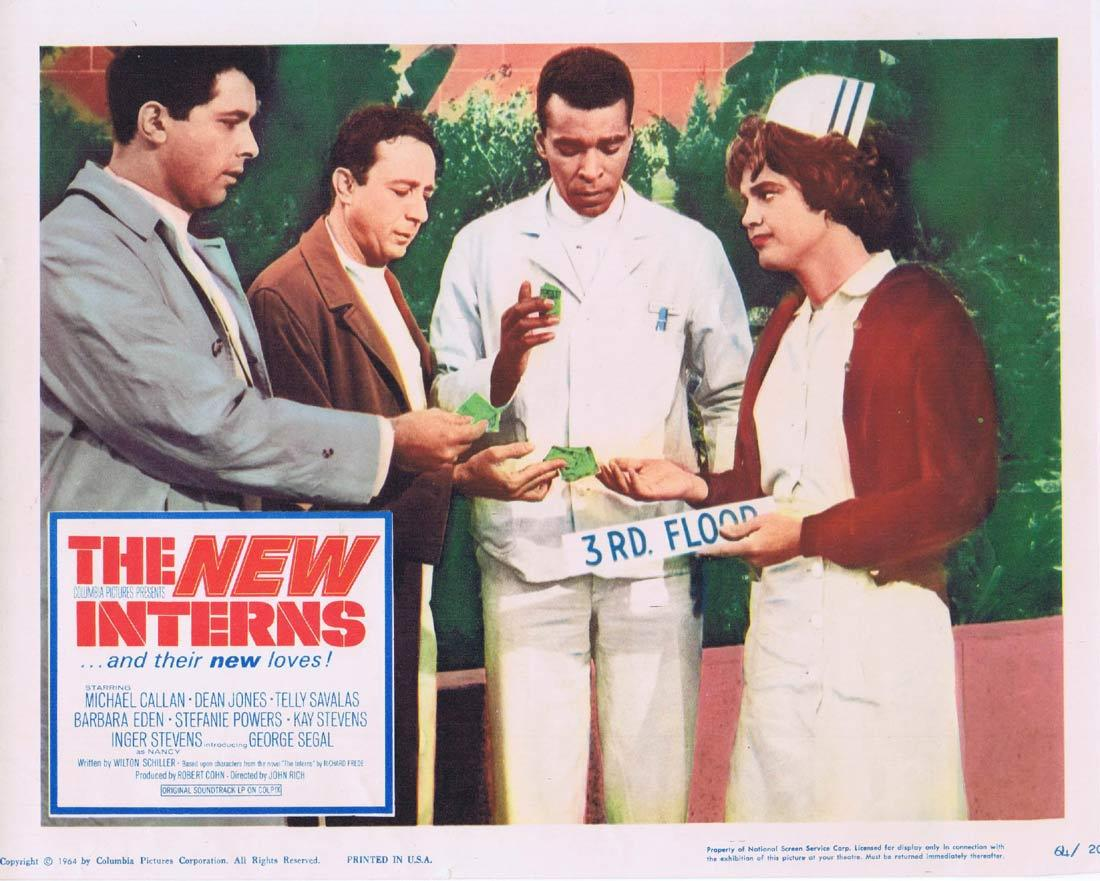 THE NEW INTERNS Lobby Card Michael Callan Dean Jones George Segal