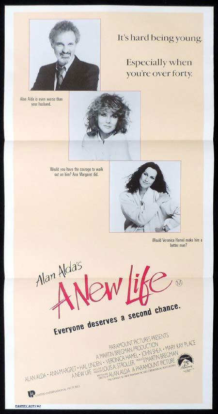 A NEW LIFE Original Daybill Movie Poster Ann-Margret Alan Alda