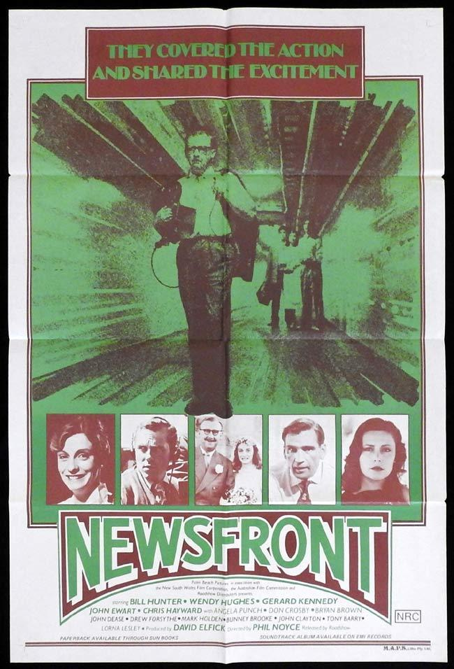 NEWSFRONT Original One Sheet poster  Phillip Noyce Bill Hunter Wendy Hughes