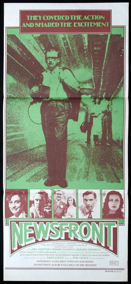 NEWSFRONT Original Daybill Movie poster Phillip Noyce Bill Hunter Wendy Hughes