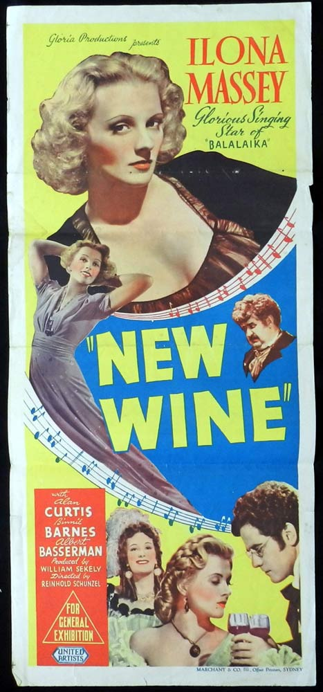 NEW WINE Original Daybill Movie Poster Franz Schubert Ilona Massey Marchant