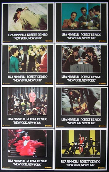 NEW YORK NEW YORK 1977 Robert De Niro Liza Minnelli Lobby card set