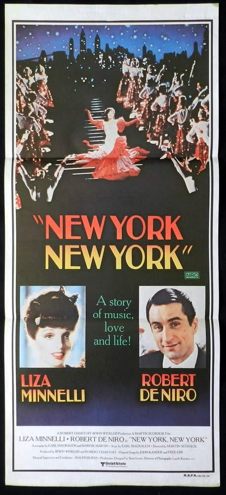 NEW YORK NEW YORK Original Daybill Movie poster Liza Minnelli