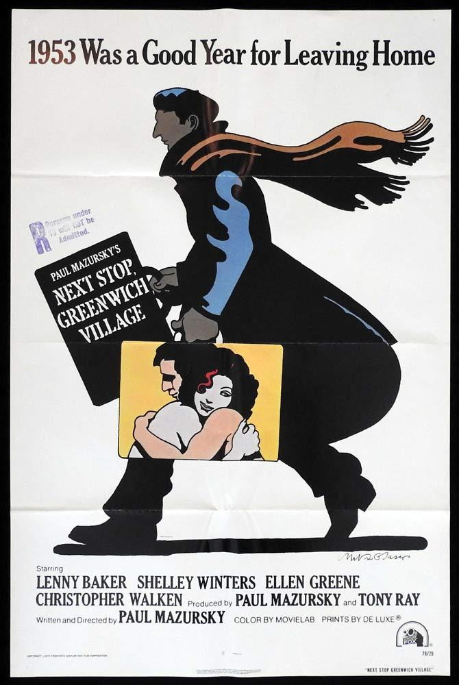 NEXT STOP GREENWICH VILLAGE Original US One Sheet Movie Poster Milton Glaser art